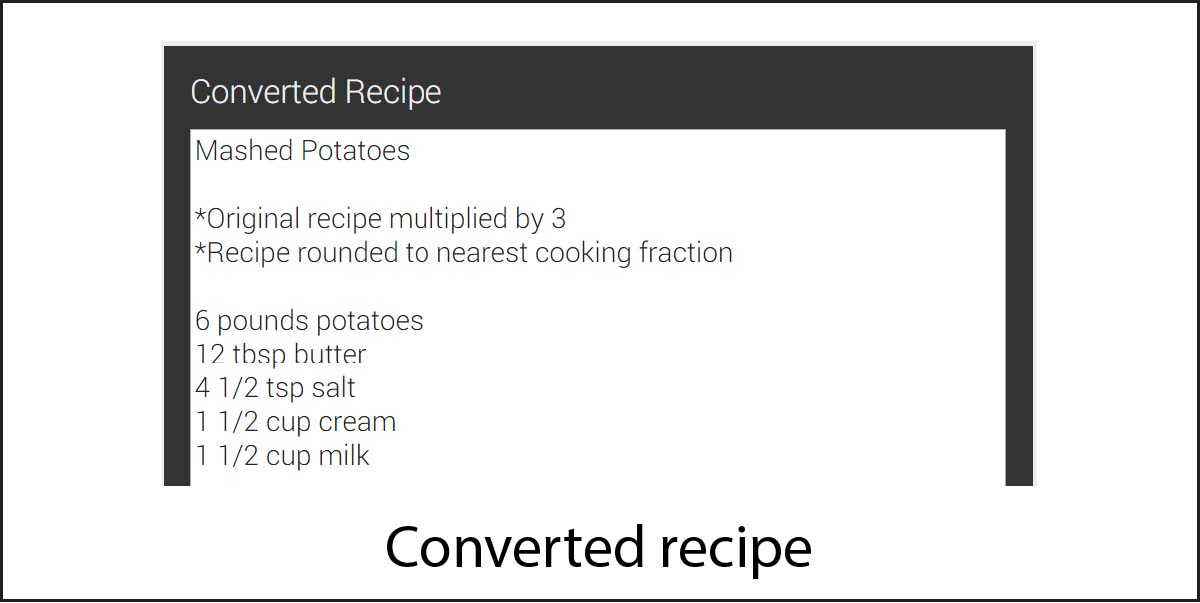 Image of converted recipe