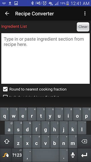 Image of the ingredient list
